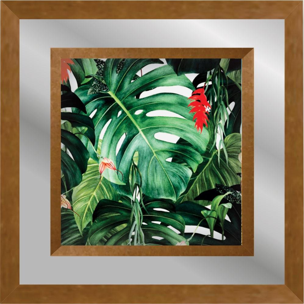 Quadro Decorativo 50x50cm Folhagem Verde 10013 - Art Frame