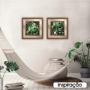Quadro Decorativo 50x50cm Folhagem Verde 100/13 - Art Frame