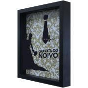 Quadro Decorativo Cofre Gravata do Noivo 22x27cm - Kapos