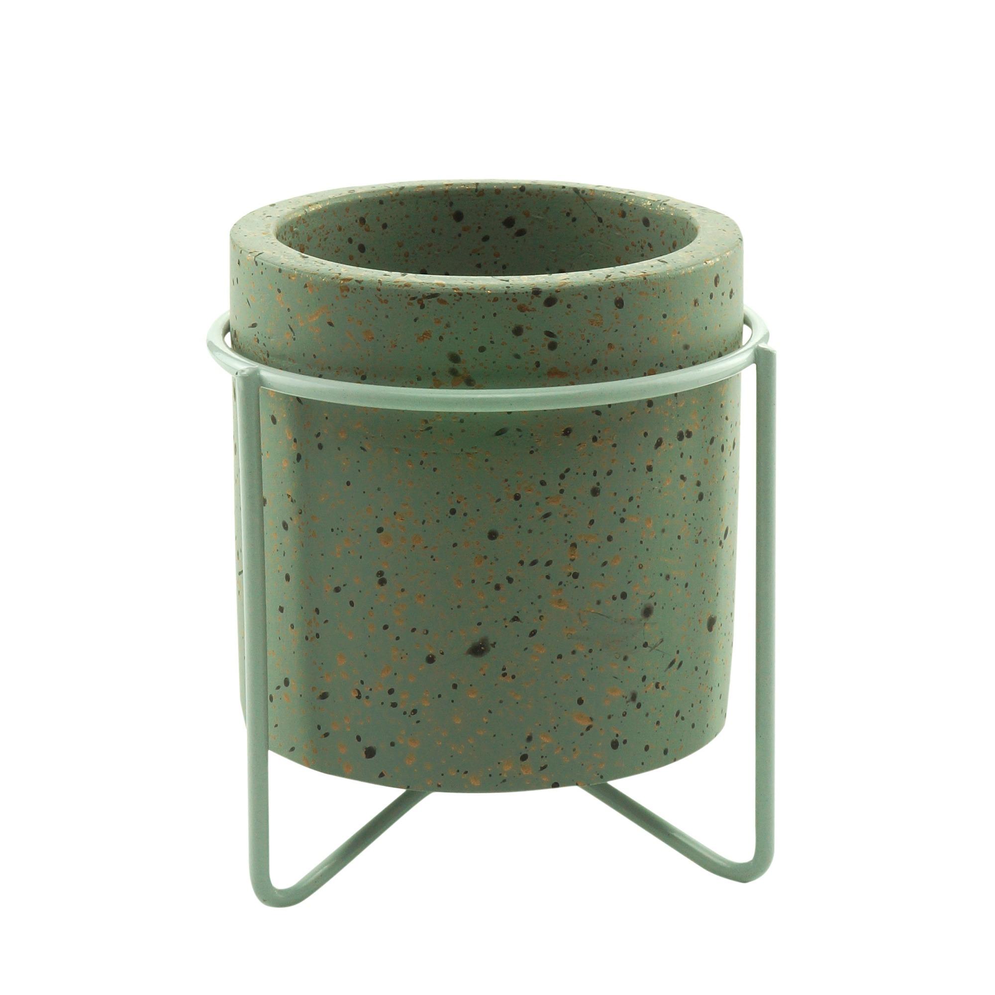 Cachepot Concreto Granilite 8x9 cm Cinza - Urban