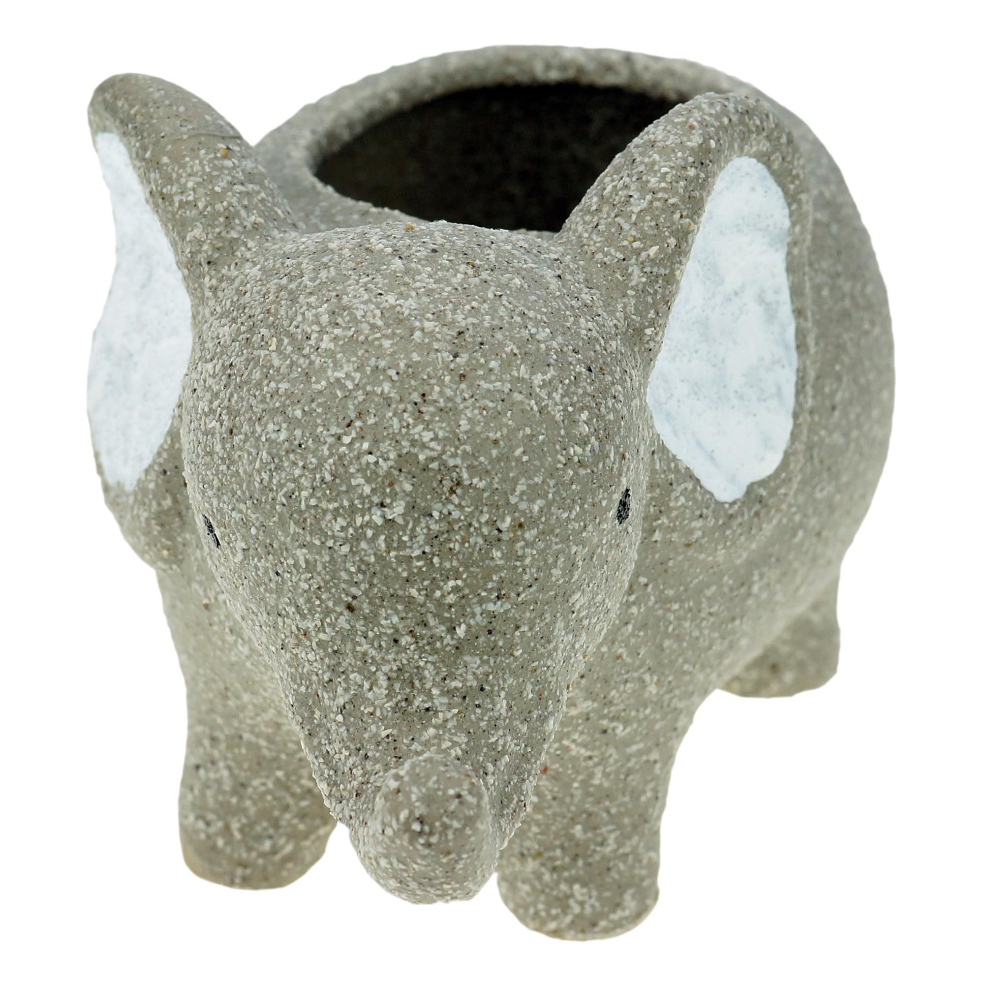 Cachepot Concreto Baby Elefante 9x8 cm Cinza - Urban