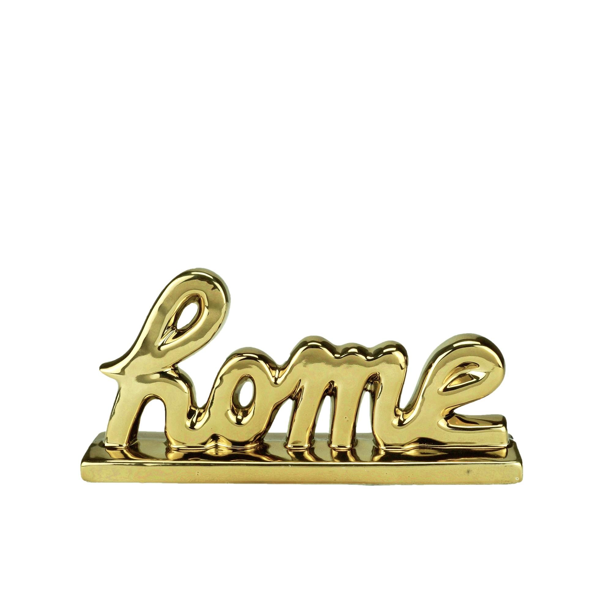 Enfeite Decorativo Porcelana Home 11cm Dourado 44370 - Urban