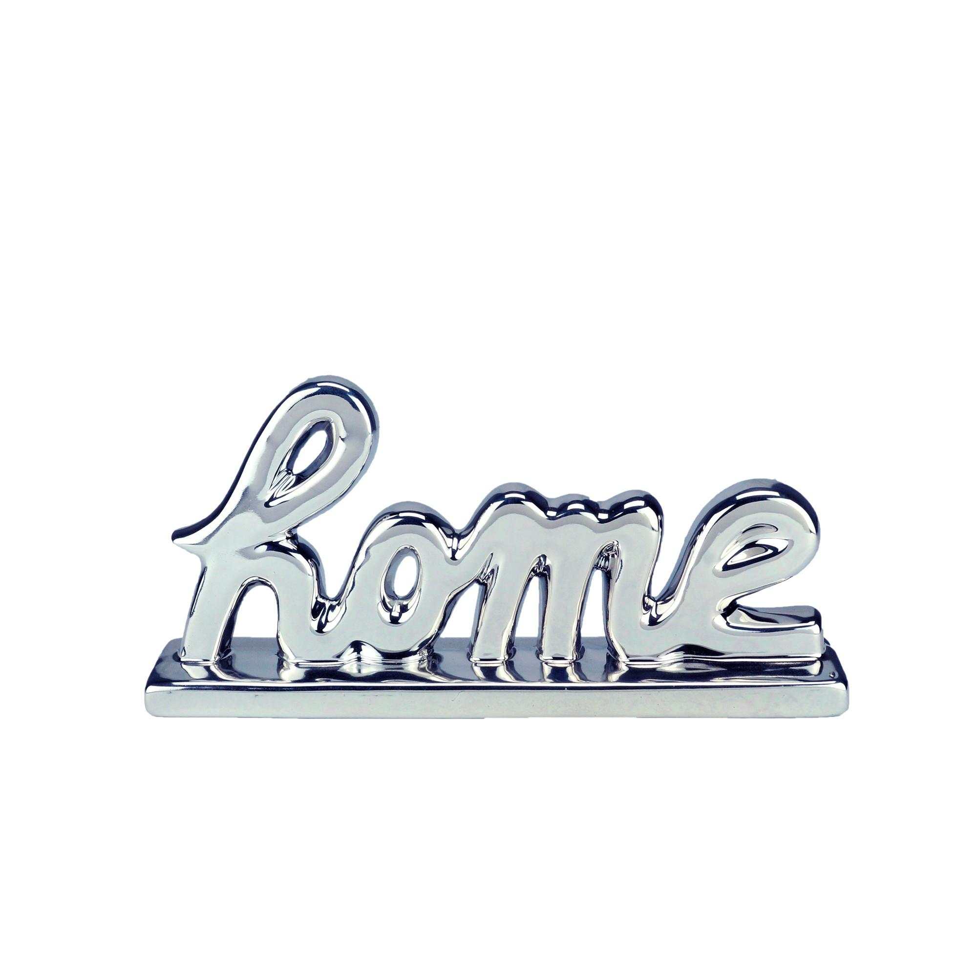 Enfeite Decorativo Porcelana Home 11cm Prata 44369 - Urban