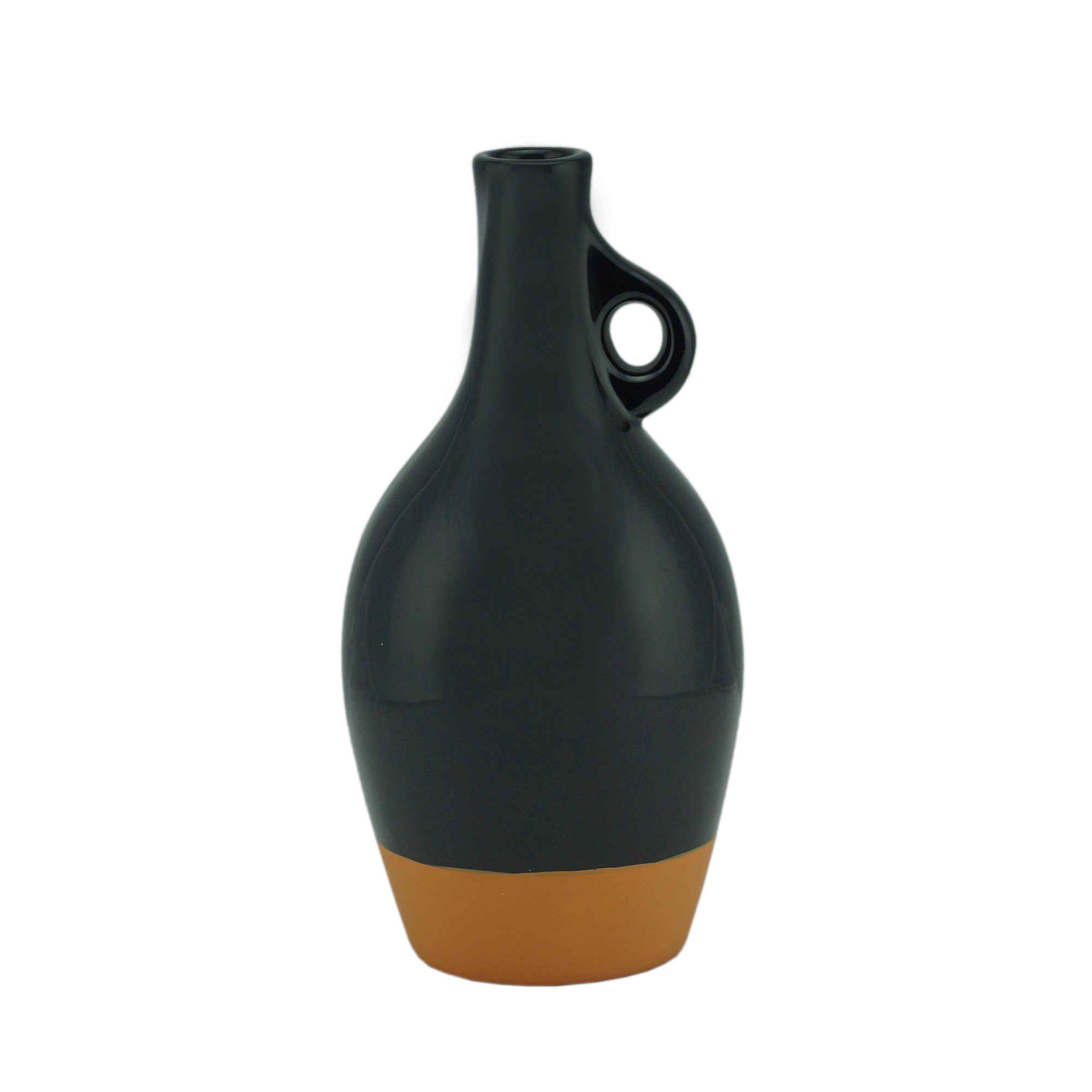 Vaso Decorativo Ceramica 22cm Preto - Urban