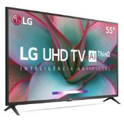 "Smart TV LED 55"" LG ThinQ AI 4K/Ultra HD HDR10 Pro Google Assistente Alexa 55UN7310 - Wi-Fi 3 HDMI 2 USB"