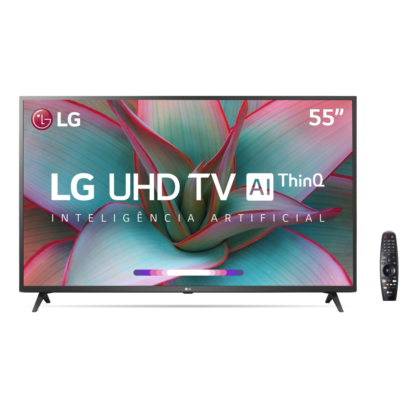 Smart TV LED 55 LG ThinQ AI 4KUltra HD HDR10 Pro Google Assistente Alexa 55UN7310 - Wi-Fi 3 HDMI 2 USB