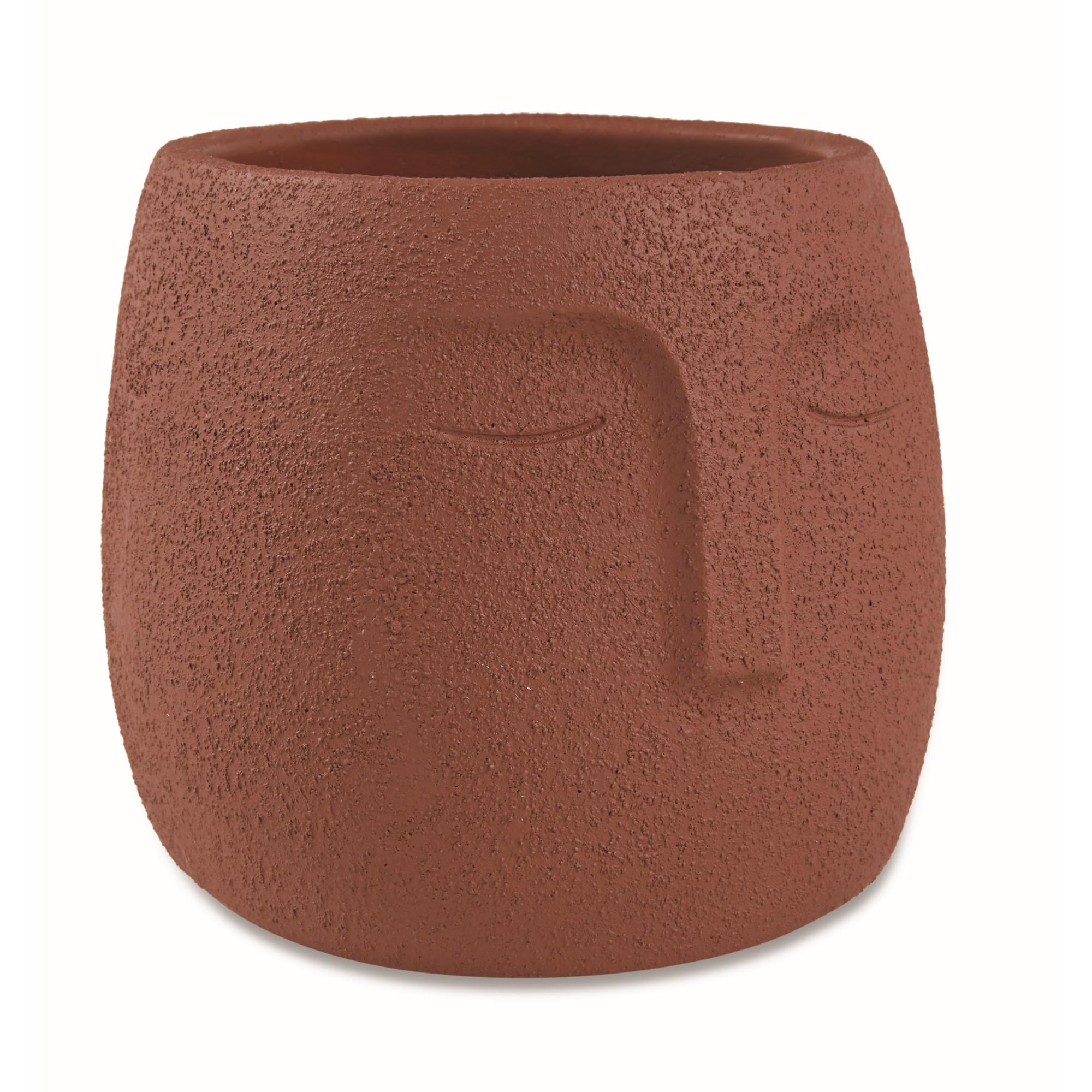 Cachepot Cimento 14x1450 cm Marrom 11911 - Mart