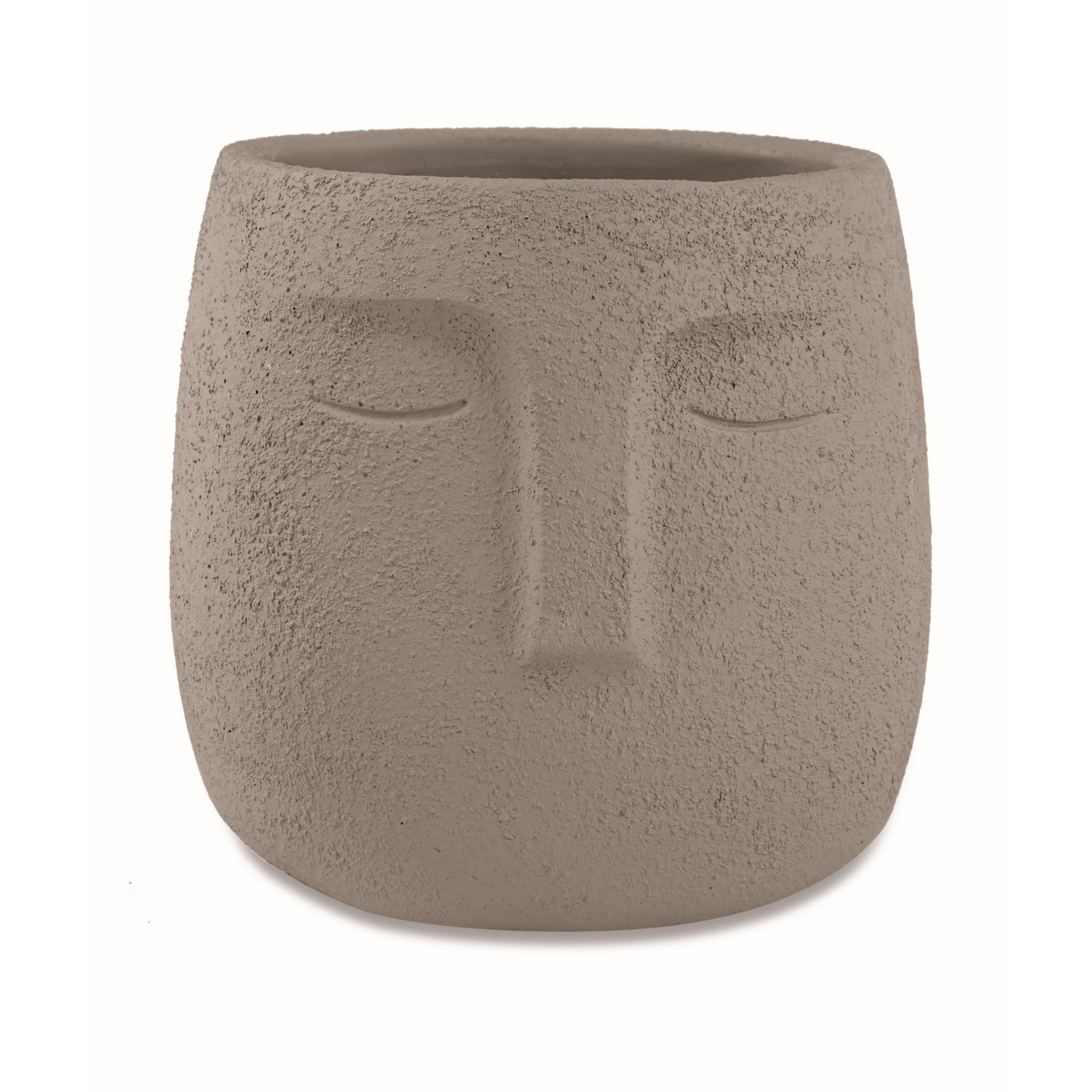 Cachepot Cimento 14x1450 cm Cinza 11913 - Mart