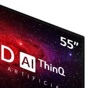 "Smart TV LG 55"" 4K OLED55CX HDR WiFi Bluetooth Inteligência Artificial ThinQAI Smart Magic Google Alexa"