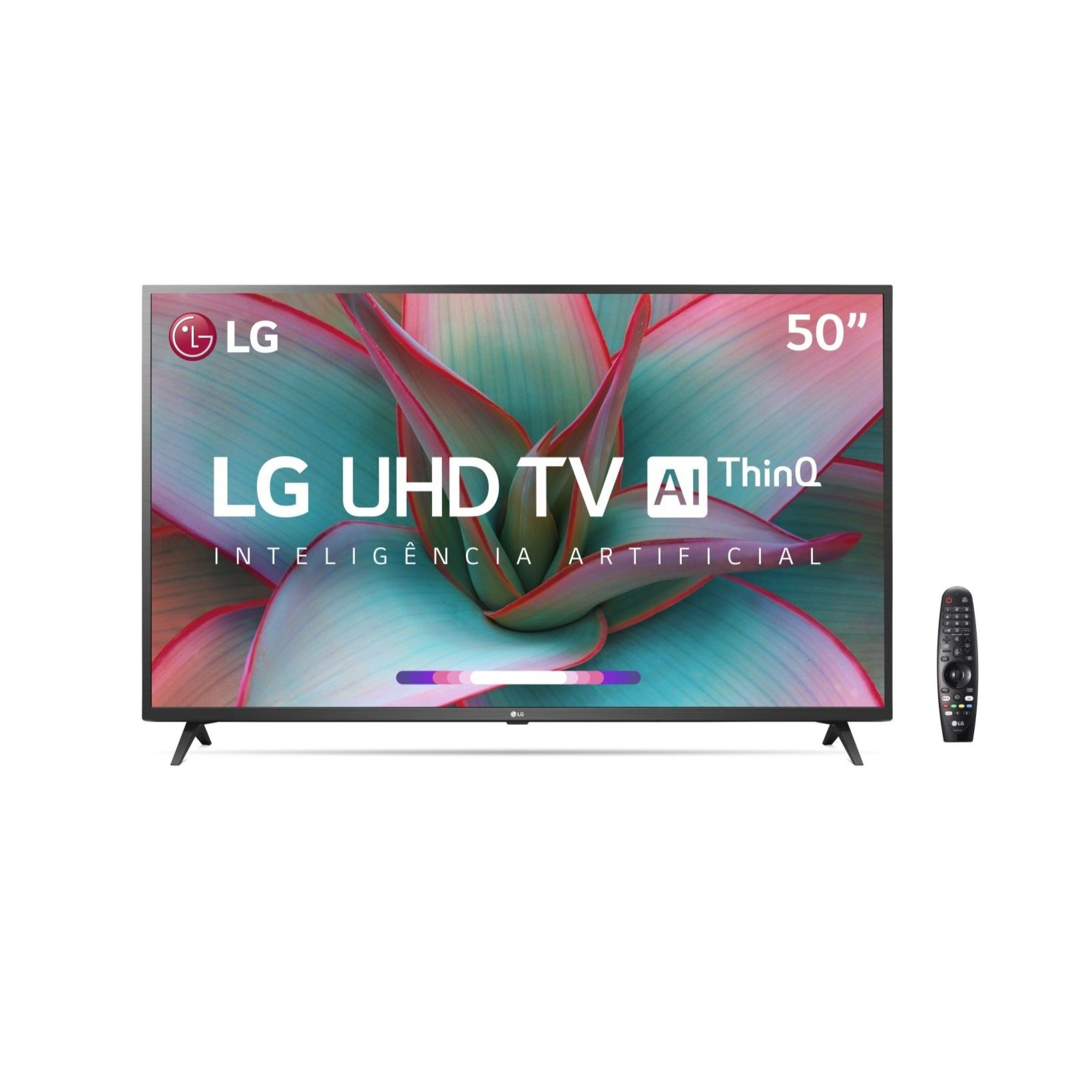 Smart TV LG 50 4K UHD 50UN7310 WiFi Bluetooth HDR Inteligencia Artificial ThinQ Smart Magic Google Alexa