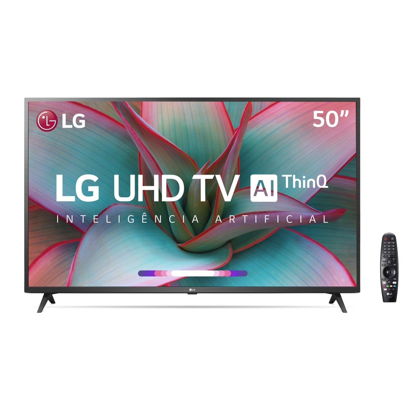 Smart TV LED 50 LG 4KUltra HD ThinQ AI HDR10 AI Sound - Wi-Fi 3 HDMI 2 USB Bluetooth- 50UN7310PSC