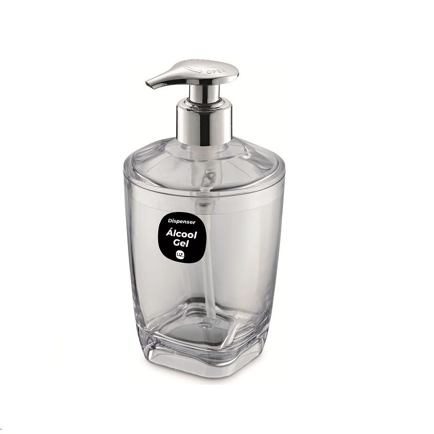 Dispenser para Alcool em Gel 300ml Transparente - UZ1847 - Uz