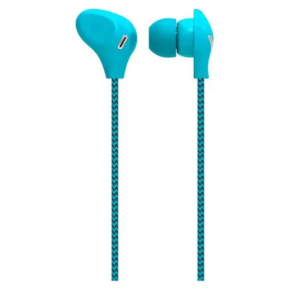 Fone de Ouvido Intra-Auricular com Microfone Azul Cabo de Nylon - PH195 - Multilaser