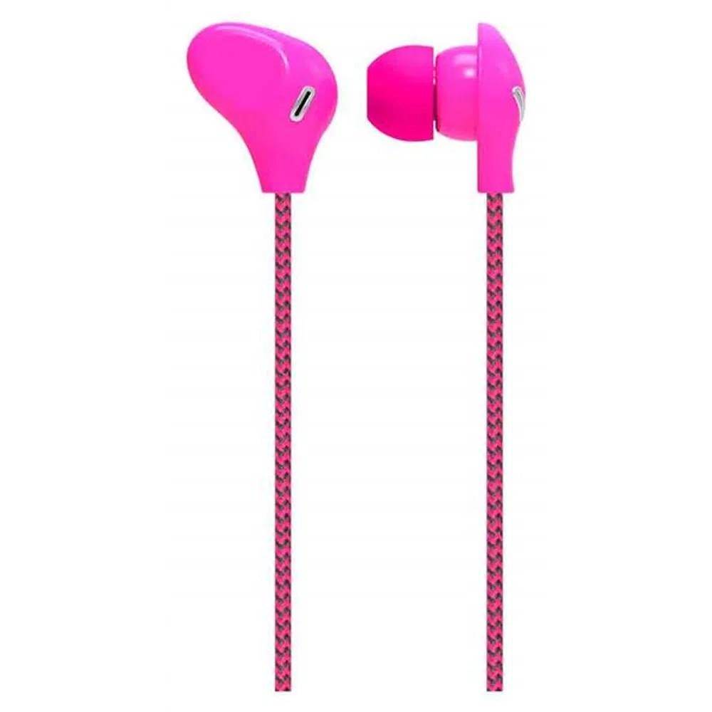 Fone de Ouvido Intra-auricular Com Microfone Rosa Multilaser Ph196