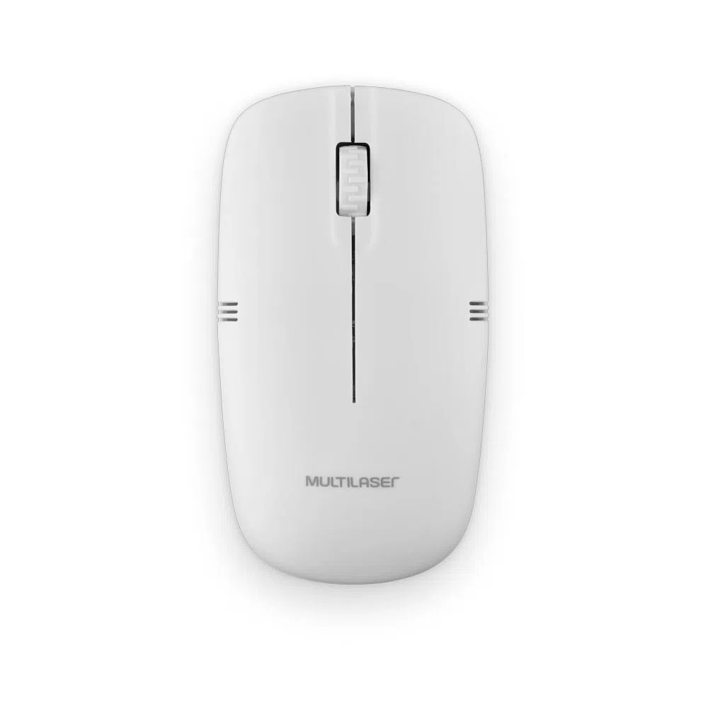 Mouse sem Fio Wireless Branco - MO286 - Multilaser