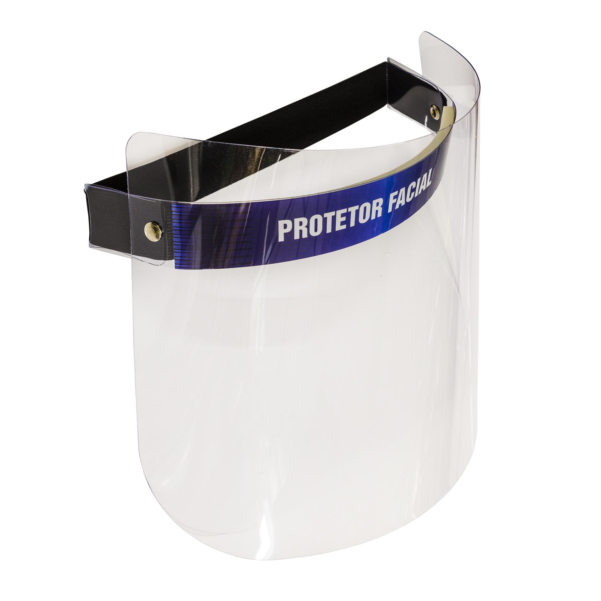 Protetor Facial Face Shield com Ajuste 25cm Transparente