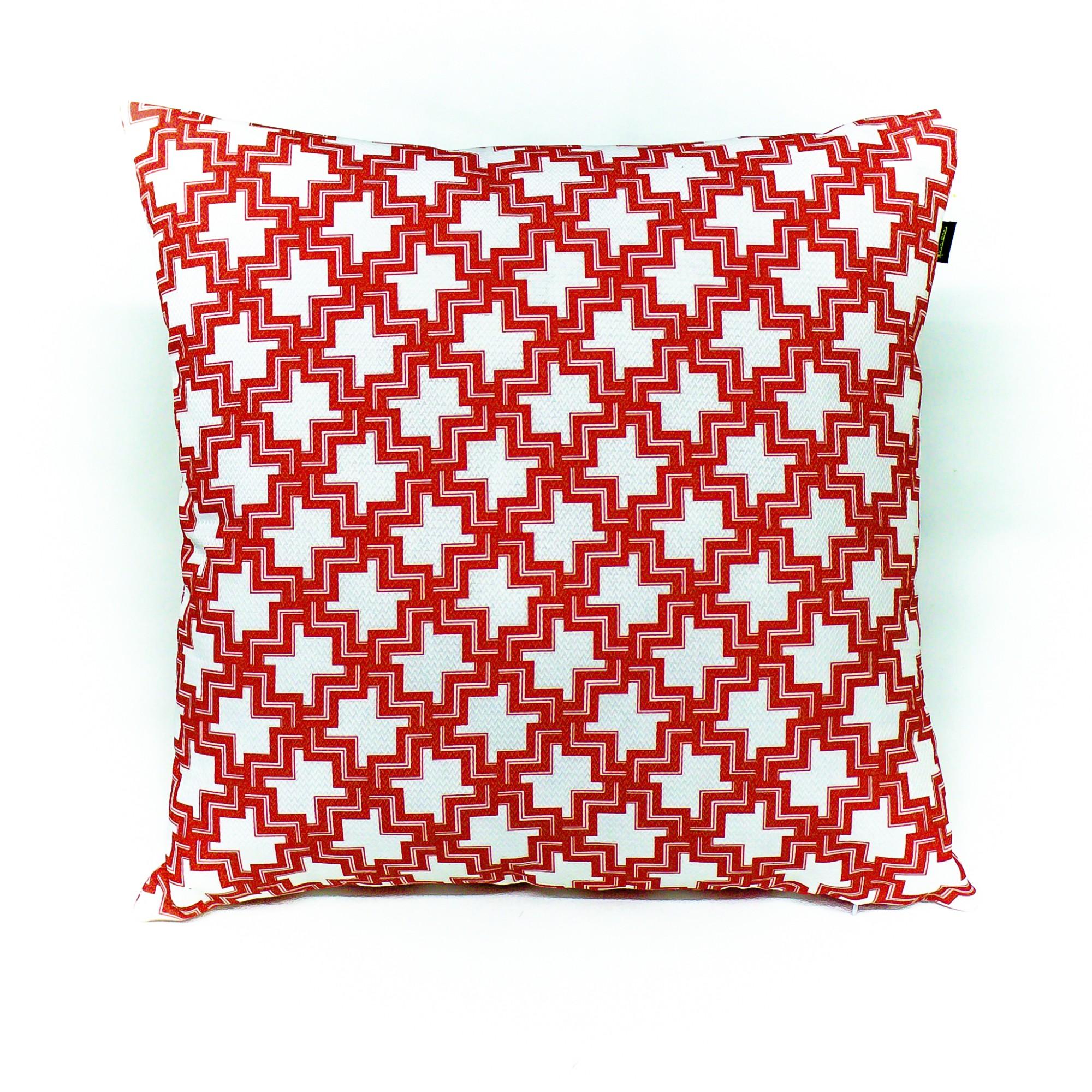 Almofada Capitolio 50x50cm Vermelho 502002 - Cortbras