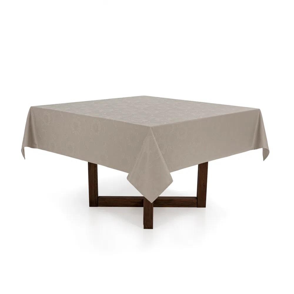 Toalha de Mesa Karsten Quadrada Sienna 220x220 cm 8 Lugares - Branco