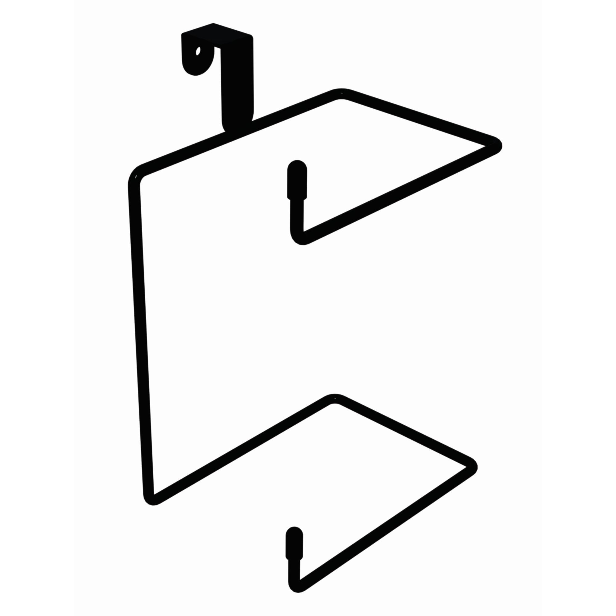 Porta Papel Higienico Preto Caixa Acoplada Duplo Aco - Dicarlo