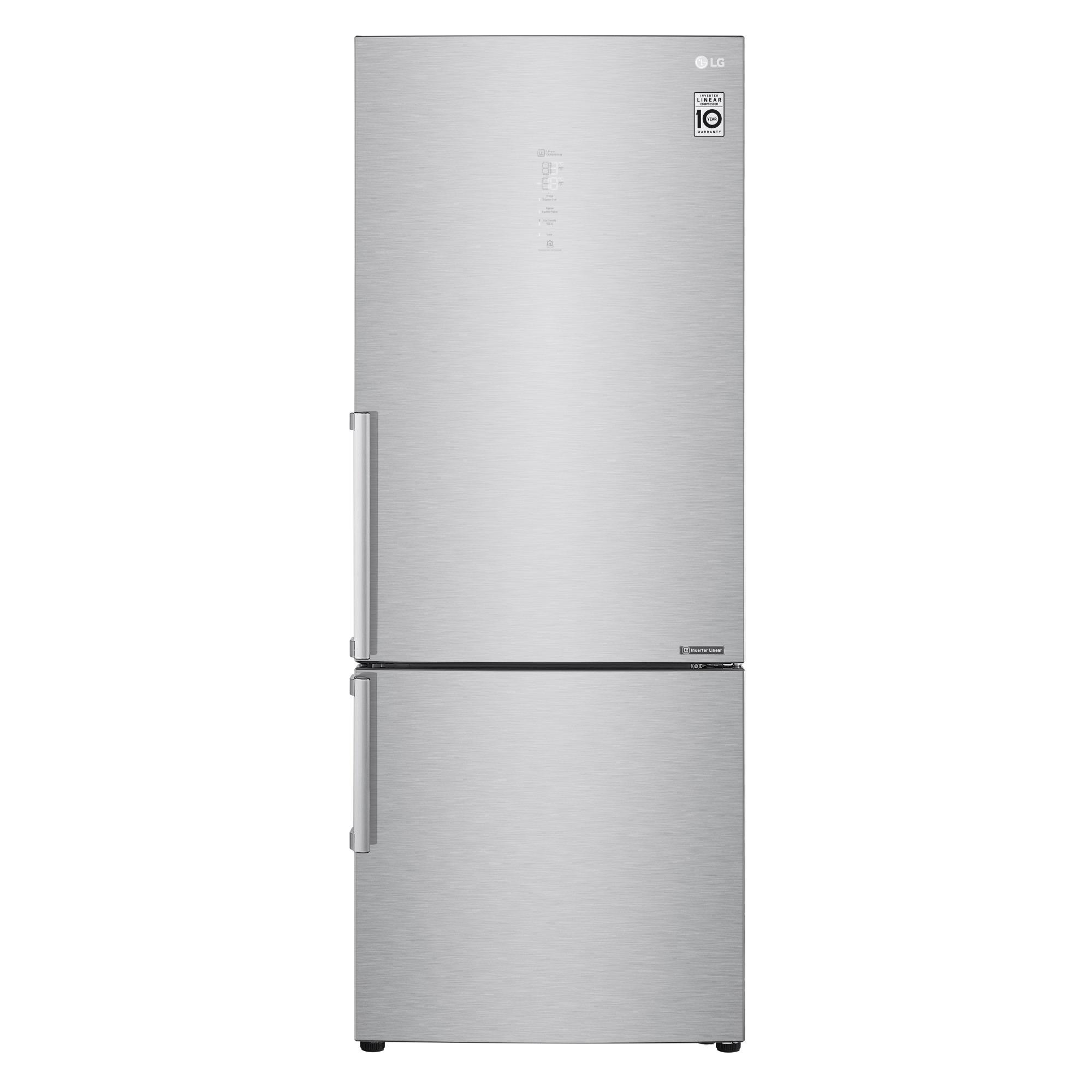 GeladeiraRefrigerador LG Frost Free Inverse 2 Portas Painel Touch Screen 451L Inox 220V - B659BSB