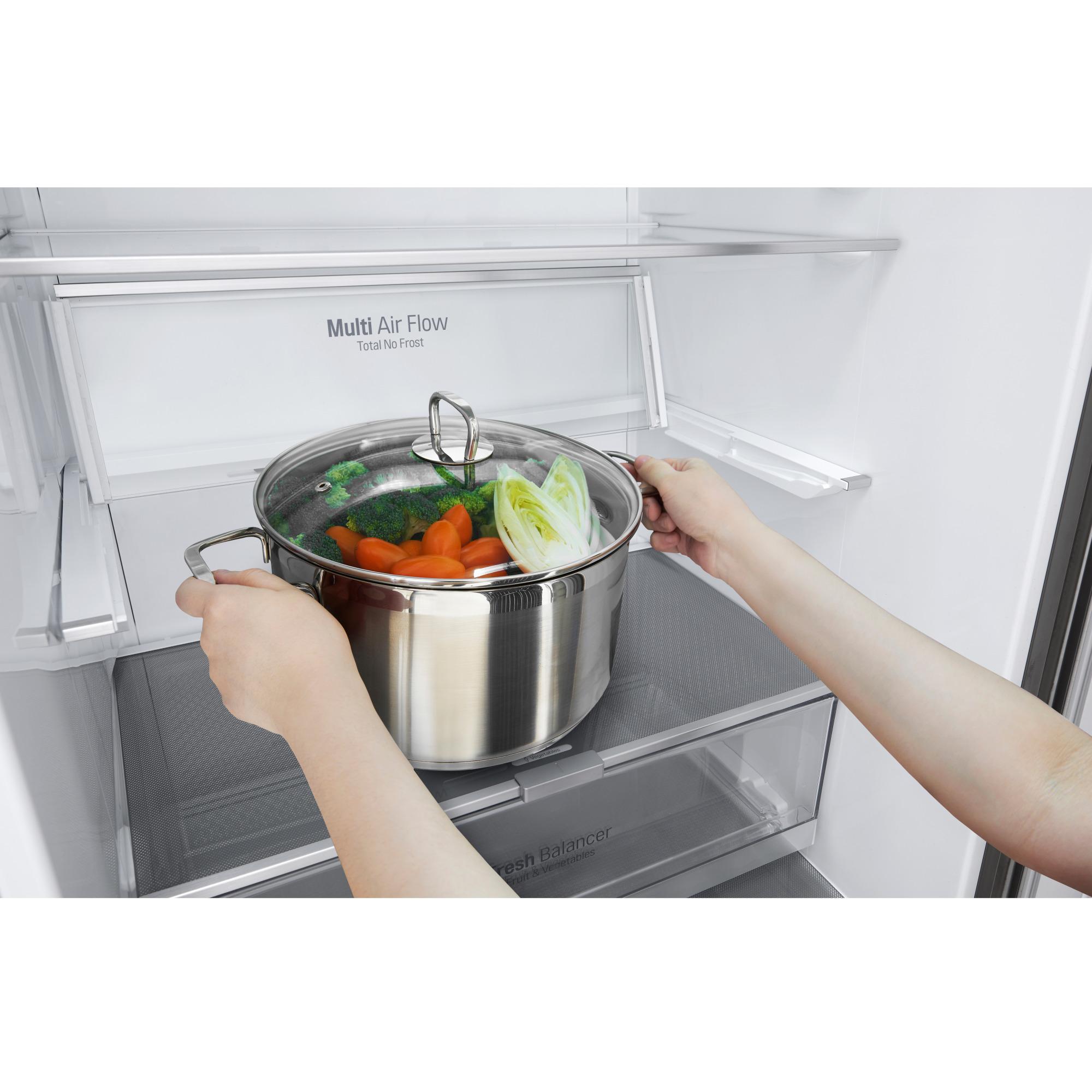 Geladeira/refrigerador 451 Litros 2 Portas Inox - LG - 220v - Gc-b659bsb1