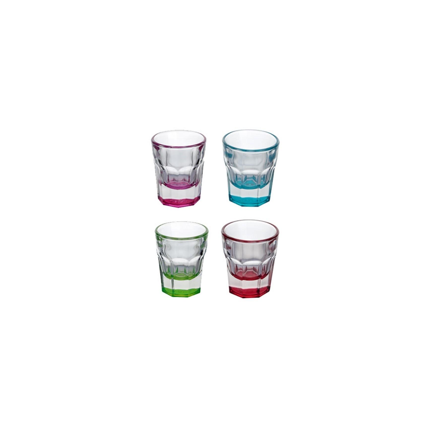 Jogo de Copos de Vidro para Dose 4 Pecas 36ml - Full Fit Industria