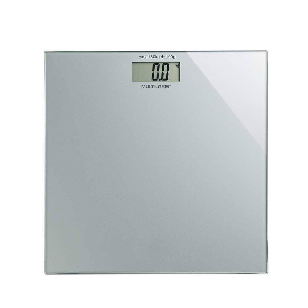 Balanca Digital de Banheiro Digi-Health HC021 Quadrada Prata - Multilaser
