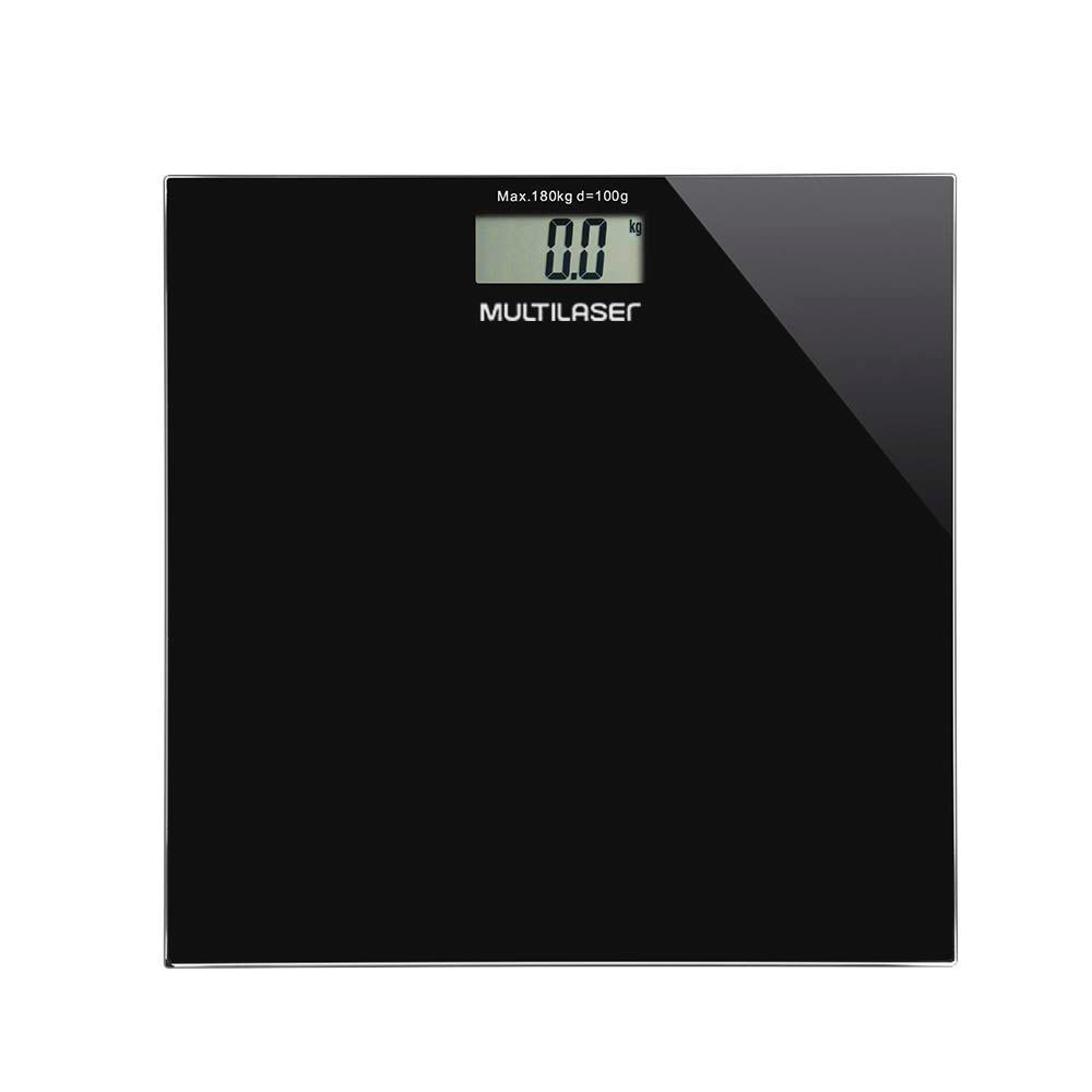 Balanca Digital de Banheiro Quadrada HC022 Preta - Multilaser