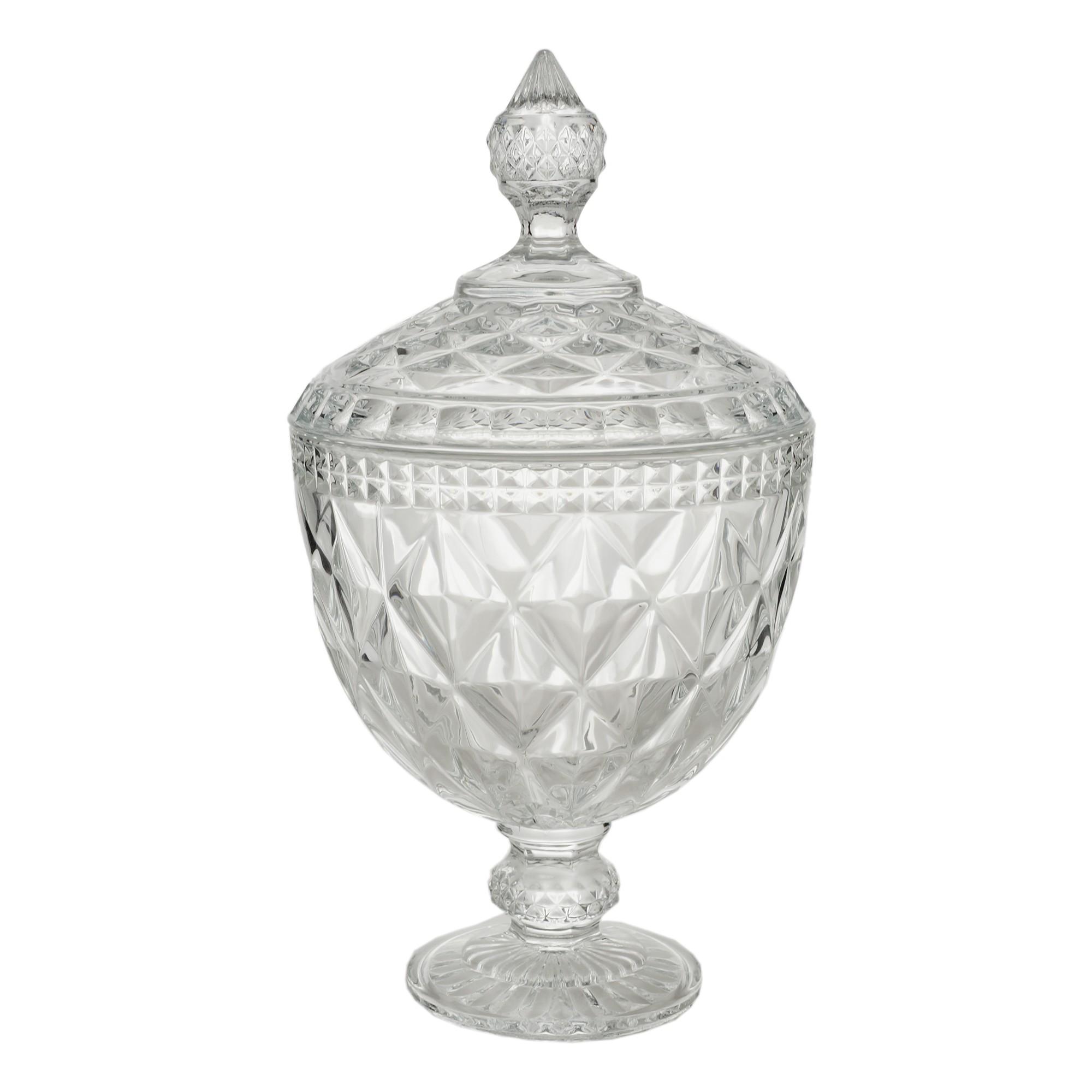 Bomboniere Cristal 28cm Diamond Transparente 7767 - Lyor Decor