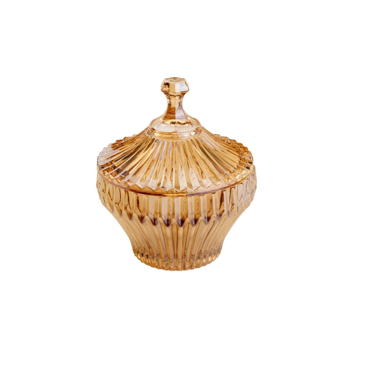 Bomboniere de Cristal 13cm Renaissance Ambar 7234 - Lyor Decor