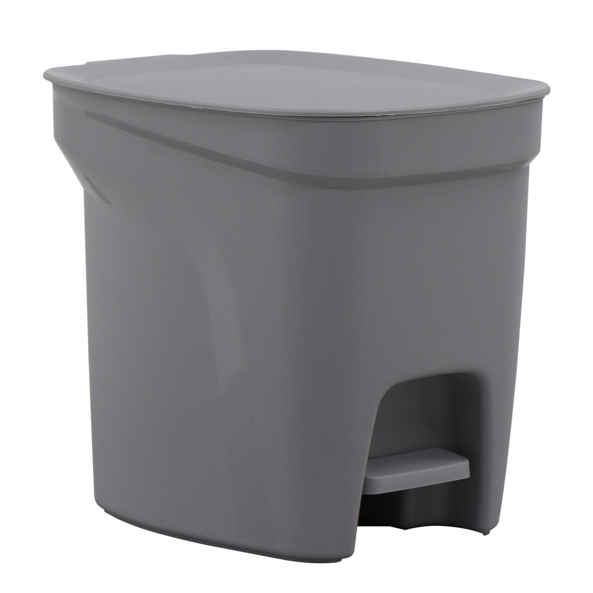 Lixeira Compact Tramontina 7L de Plastico com Pedal Cinza - 92851210