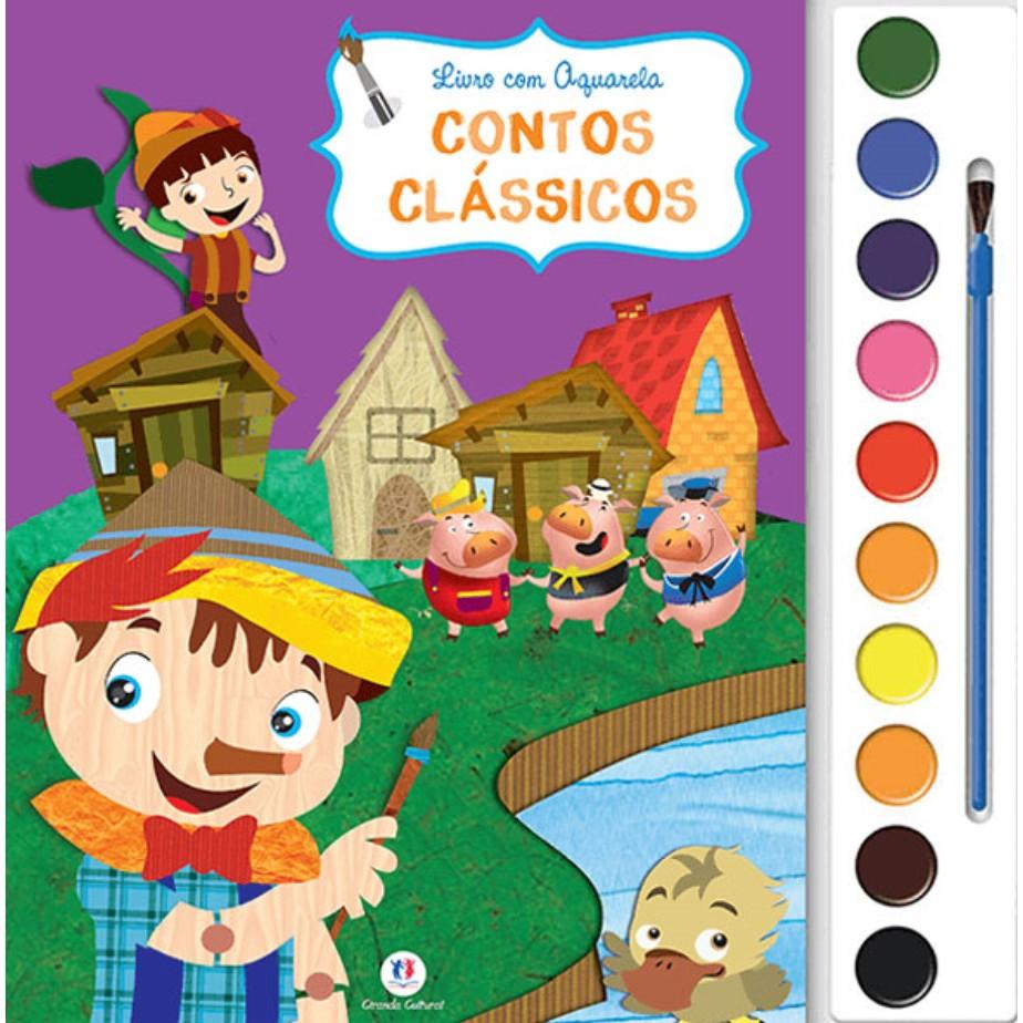 Livro Contos Classicos Ciranda Cultural Colorir