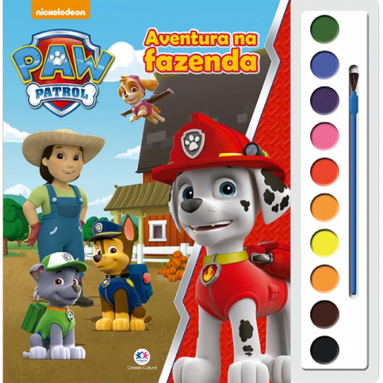 Livro Patrulha Canina - Aventura na Fazenda Ciranda Cultural Colorir