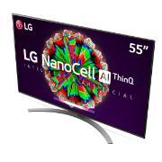 "Smart TV LG 55"" NanoCell 55NANO81 IPS  4K/Ultra HD HDR ThinQ Ai Google Assistente e Alexa - 4 HDMI 2 USB"