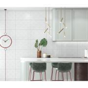 Revestimento Arielle Tipo A Branco 37x59 cm Esmaltado com Alto Relevo 2,39m² Tecnologia de Impressão Digital HD