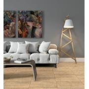 Cerâmica Arielle Tipo A Marrom Claro 53x53 cm Bold Amadeirado 2,27m² Esmaltado Brilhante com Tecnologia de Impressão Digital HD