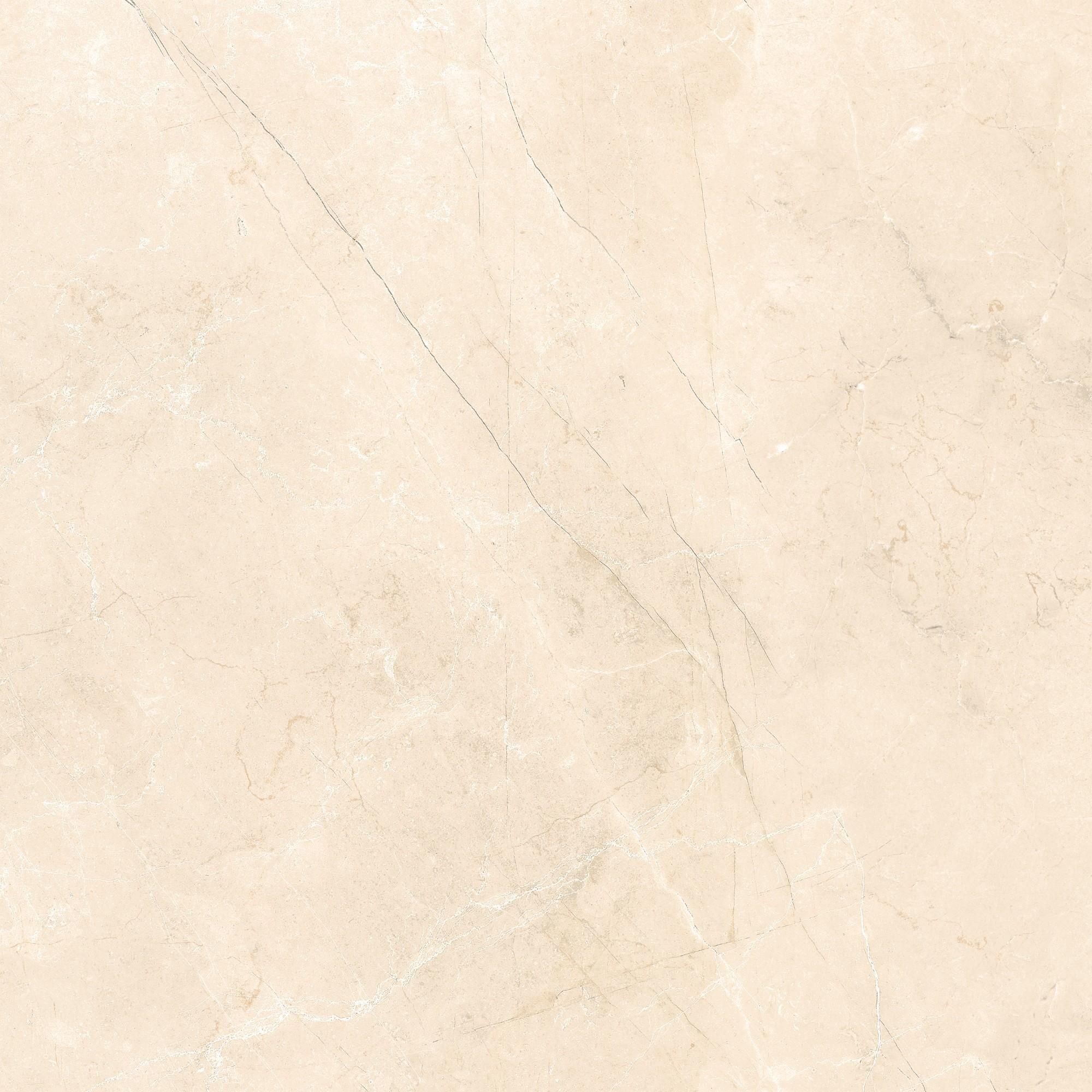 Ceramica Arielle Tipo A 53x53 cm Retificado Bege Marmorizado 222m Esmaltado Brilhante com Tecnologia de Impressao Digital HD