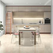 Cerâmica Arielle Tipo A 53x53 cm Retificado Bege Marmorizado 2,22m² Esmaltado Brilhante com Tecnologia de Impressão Digital HD