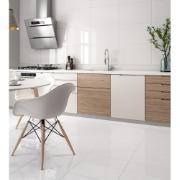 Cerâmica Arielle Tipo A 53x53 cm Branco Retificado Marmorizado 2,22m² Esmaltado Brilhante com Tecnologia de Impressão Digital HD