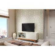 Rack TV Mdf 140cm Retrô 1 Porta Off-white - Dalla Costa