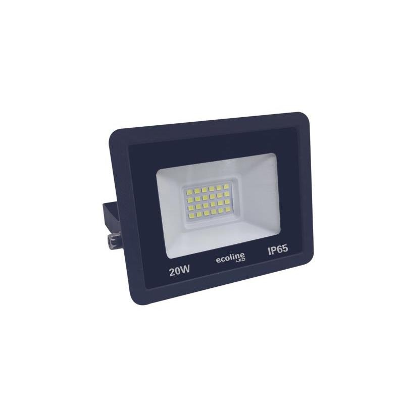 Refletor LED 20W 220V Luz Branca de Aluminio - Ecoline