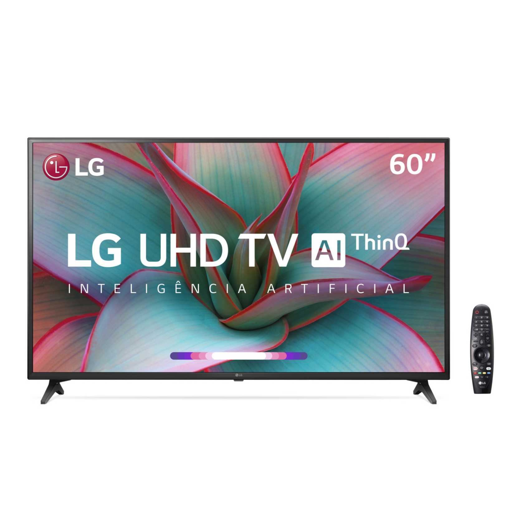 Smart TV LG 60 4K UHD 60UN7310 WiFi Bluetooth HDR Inteligencia Artificial ThinQ Smart Magic Google Alexa