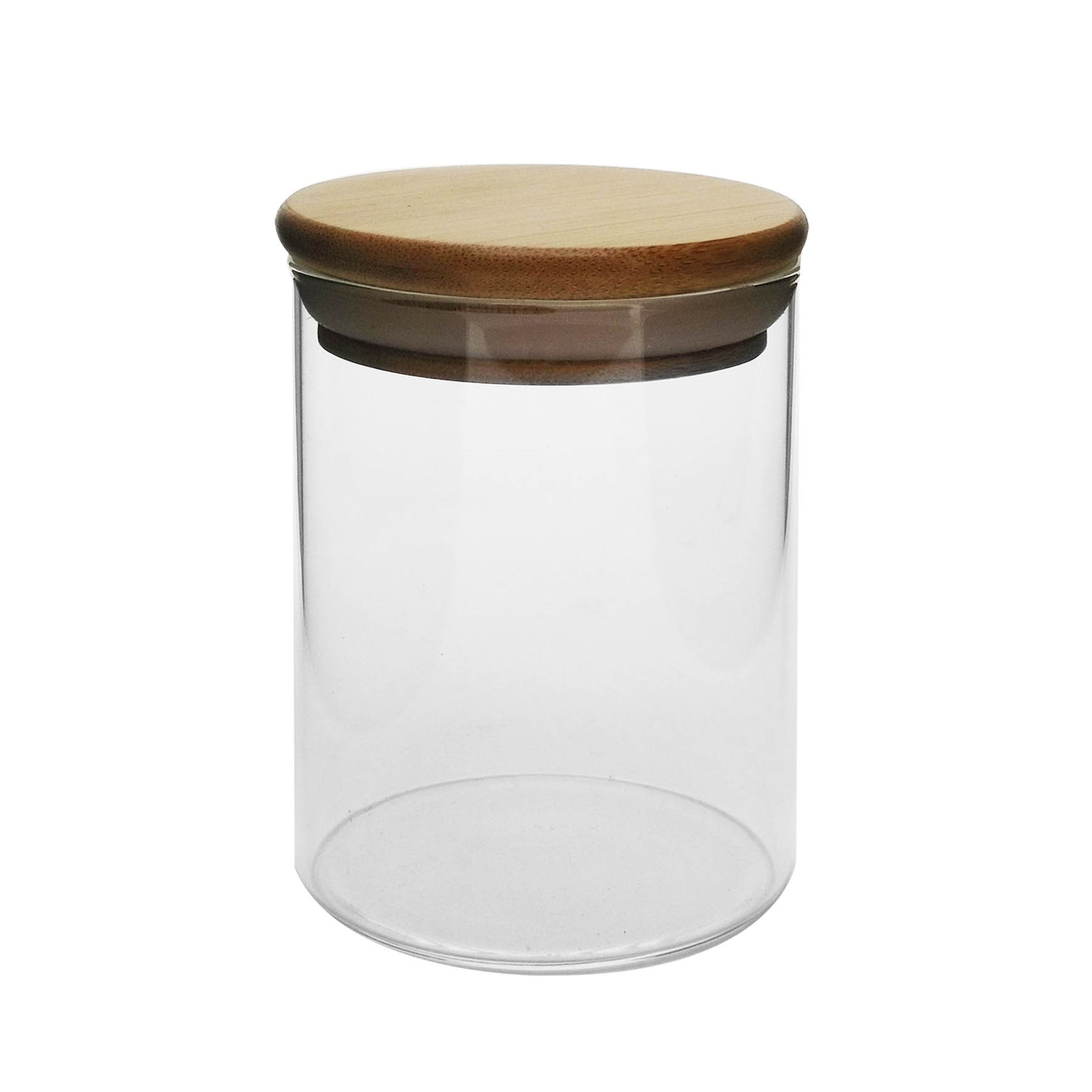 Pote de Vidro Redondo 150ml com Tampa Bambu Transparente - Yangzi