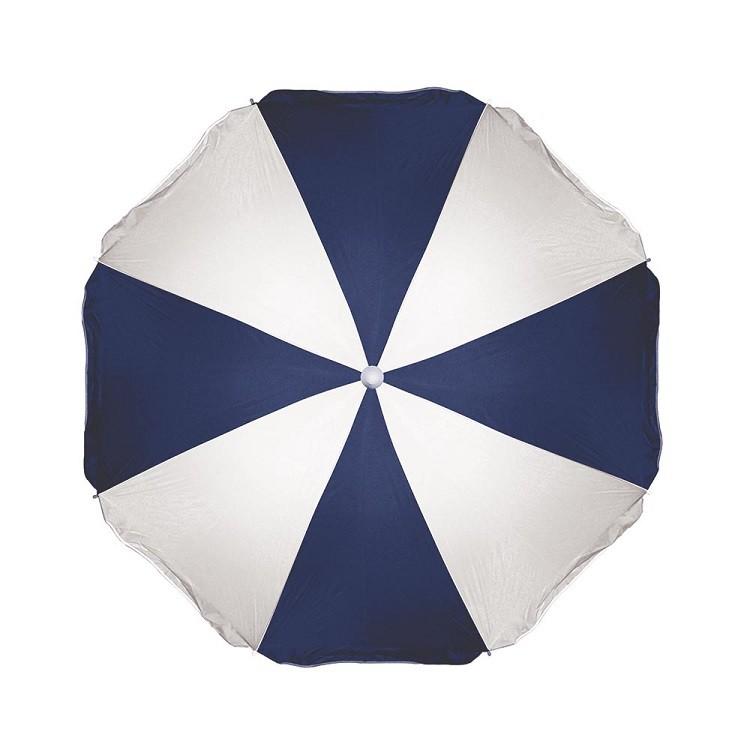 Guarda-Sol 180m de Aco Azul Marinho com Branco - Mor