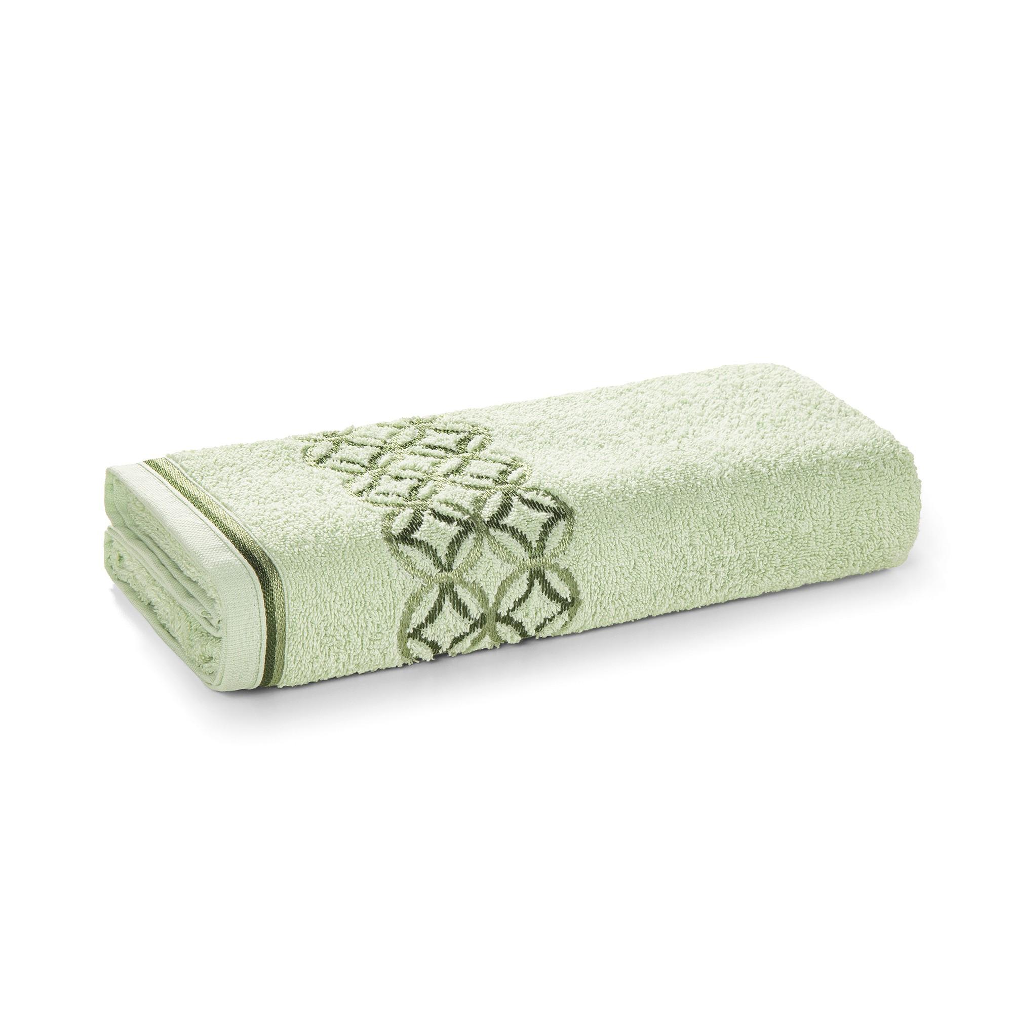 Toalha de Banho Karsten Nardin com Acabamento Cotton 67x135 cm - Verde
