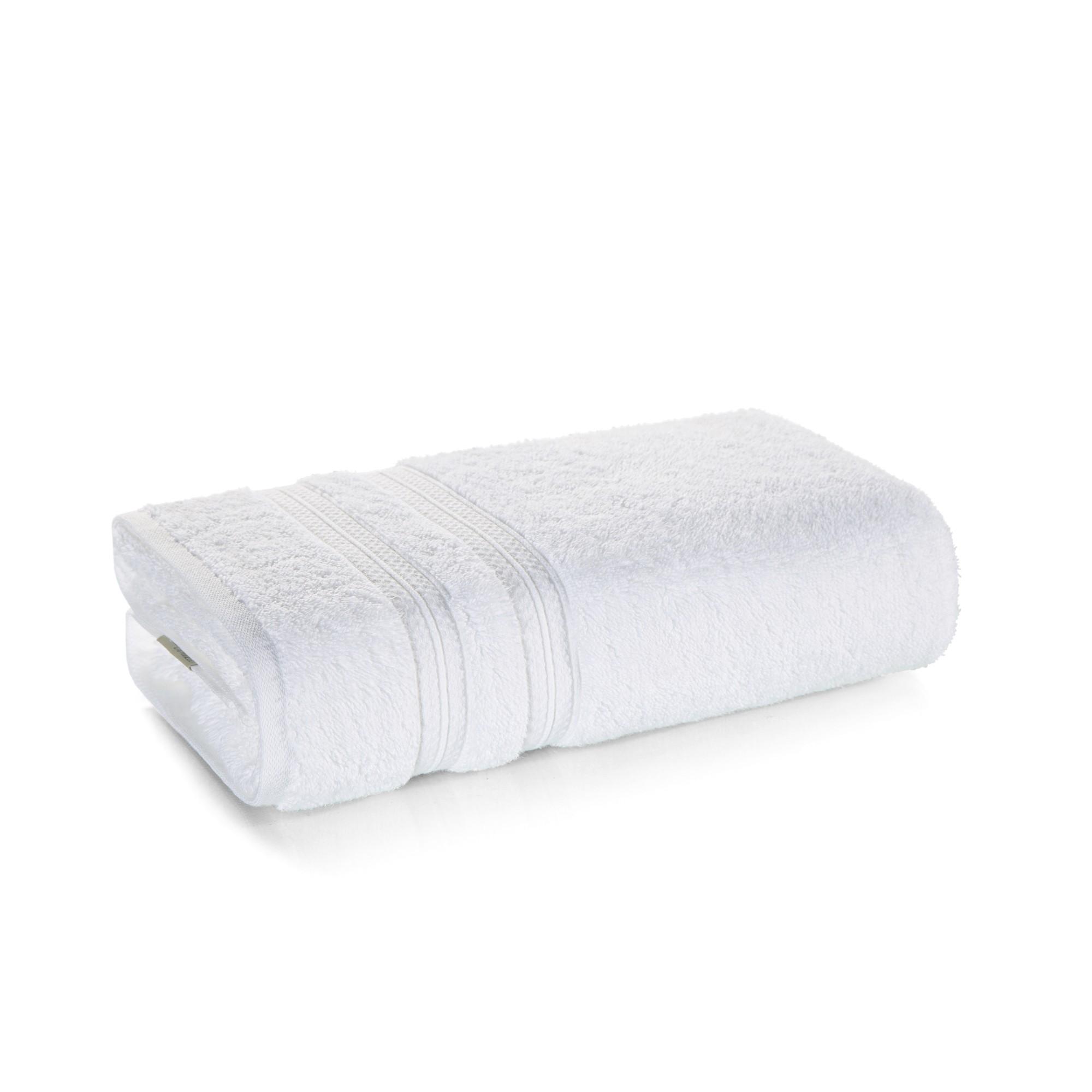 Toalha de Banho Karsten 100 Algodao com Toque Ultramacio 70x140 cm - Branco