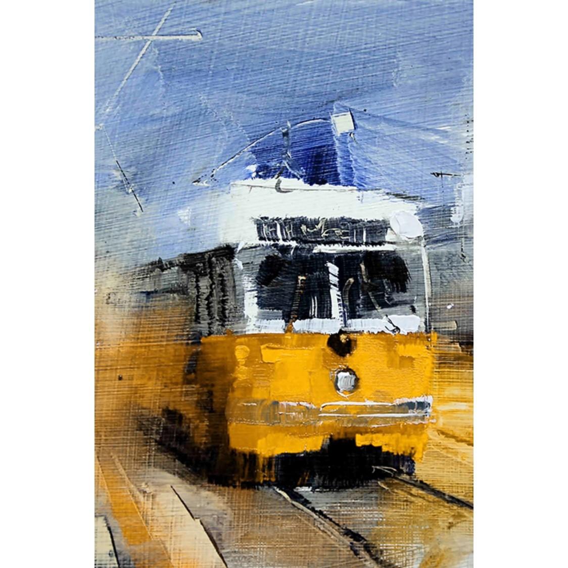 Quadro Decorativo 40x60 cm Trem Amarelo - Jolie