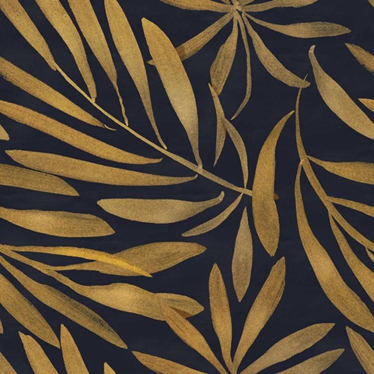 Quadro Decorativo 50x50 cm Folhas Dourado - Jolie