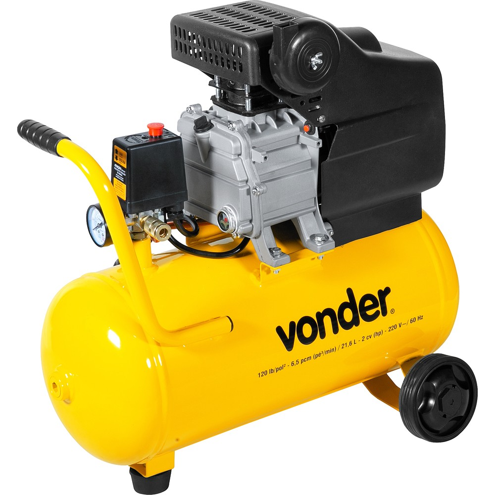 Motocompressor de Ar MCV 216 220v 216 L - Vonder