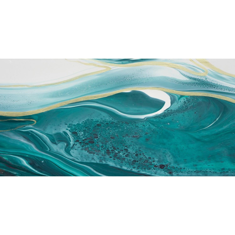 Quadro Decorativo em Canvas 50x100 cm Abstrato Agua - Jolie